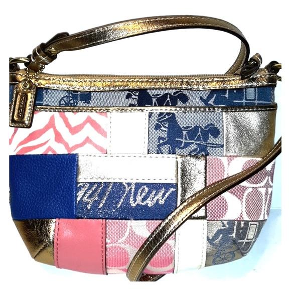 Coach Handbags - *L@@K* COACH Patchwork Print Small Crossbody Bag